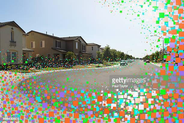 Flying Pixels in Suburbs