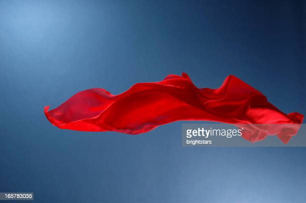 flying red silk - silk stock pictures, royalty-free photos & images