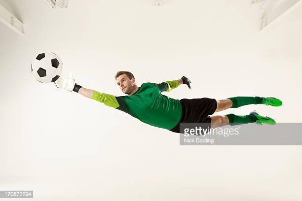 flying sports, football 17 - goalie goalkeeper football soccer keeper stock pictures, royalty-free photos & images