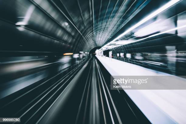 flying through time - high speed train stock pictures, royalty-free photos & images