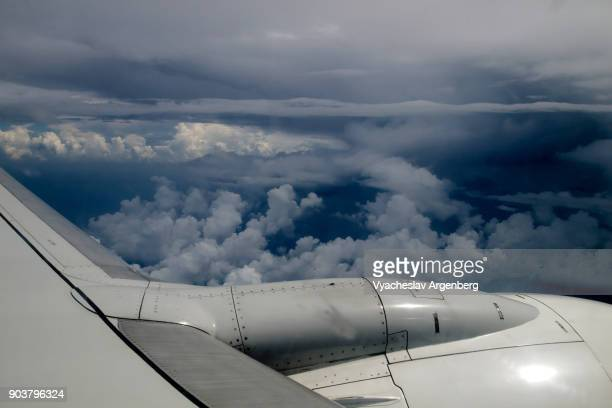 flying to andaman islands through a very dangerous windy tornado sky - www images com stock photos and pictures