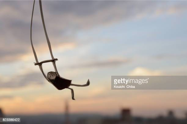 flying trapeze - kouichi chiba stock photos and pictures