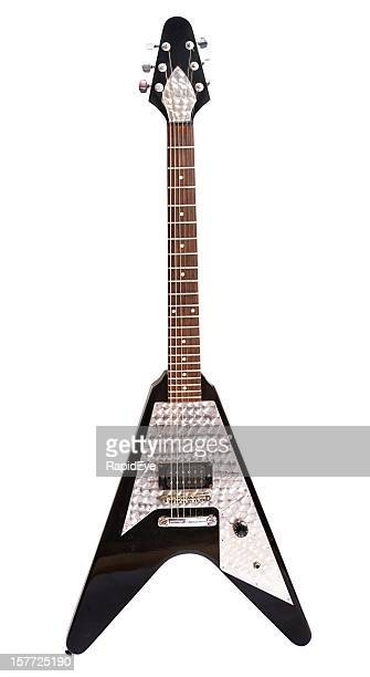 """flying v"" electric guitar - electric guitar stock pictures, royalty-free photos & images"