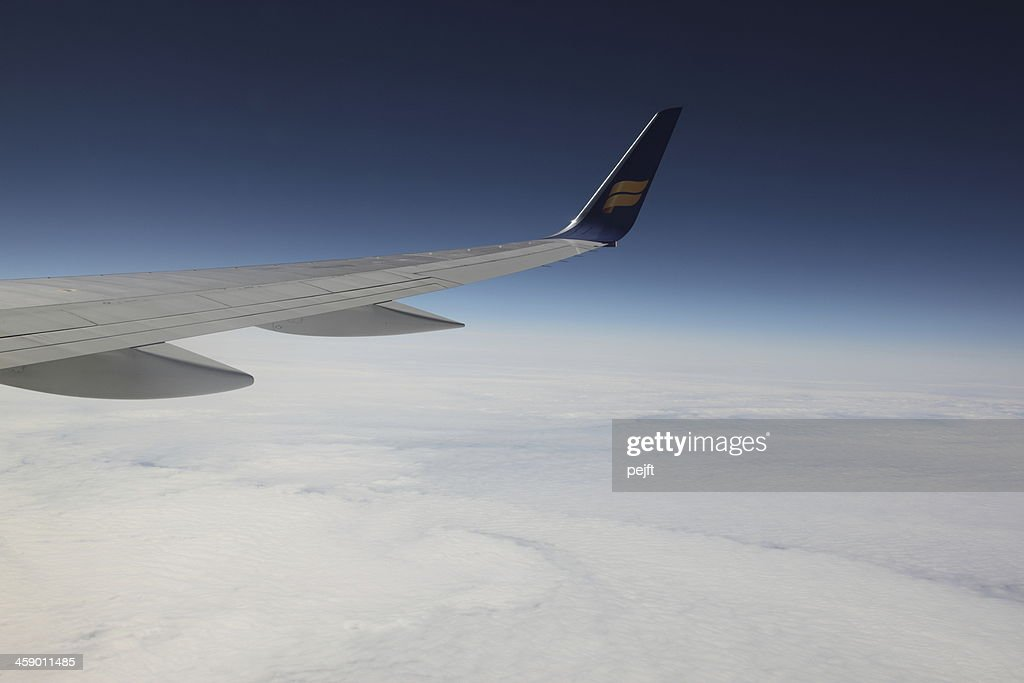 Flying with Icelandair : Stock Photo