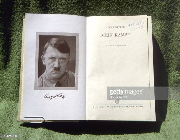 Flyleaf of an original edition of Mein Kampf by Adolf Hitler German statesman