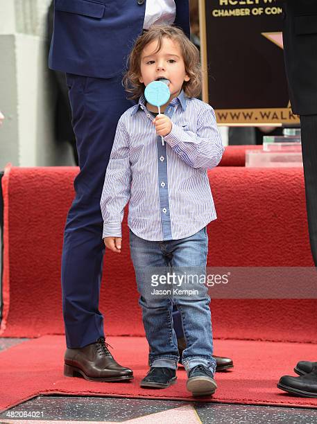 Flynn Bloom attends the Hollywood Walk of Fame celebration in honor of Orlando Bloom on April 2 2014 in Hollywood California