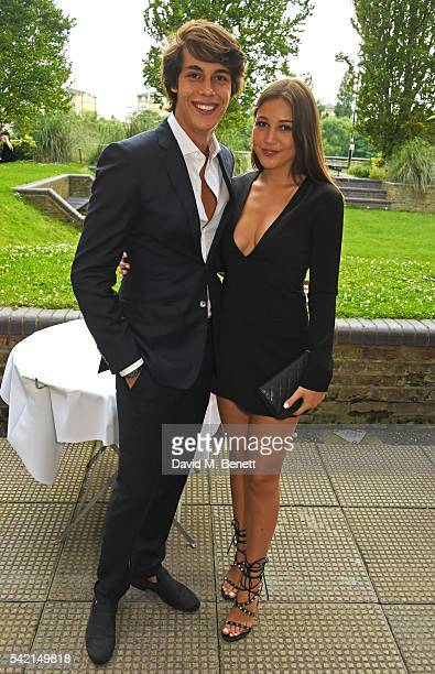 Flynn Busson and Camille Martayan attend a private dinner hosted by Michael Kors to celebrate the new Regent Street Flagship store opening at The...
