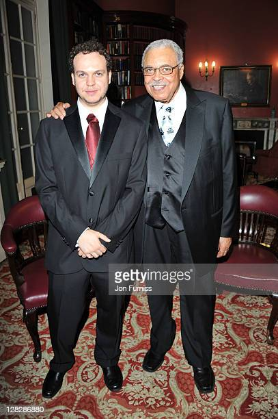Flynn Earl Jones and James Earl Jones attend the after party for the opening of Driving Miss Daisy at RAC Club on October 5, 2011 in London, England.