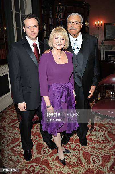 Flynn Earl Jones, Cecilia Hart and James Earl Jones attend the after party for the opening of Driving Miss Daisy at RAC Club on October 5, 2011 in...