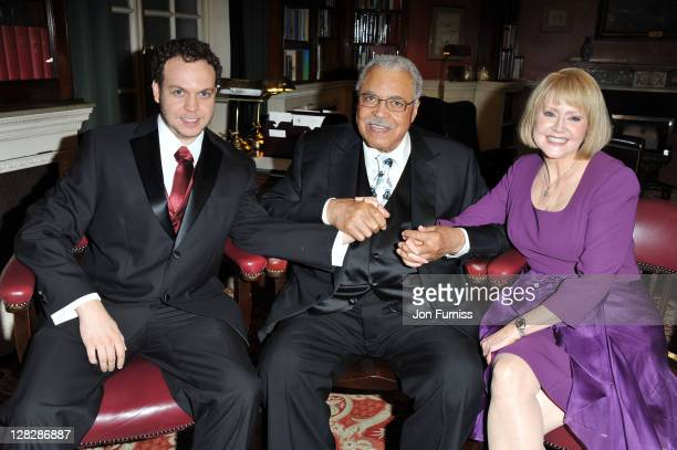 Flynn Earl Jones, James Earl Jones and Cecilia Hart attend the after party for the opening of Driving Miss Daisy at RAC Club on October 5, 2011 in...