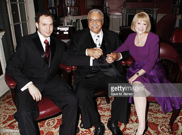Flynn Earl Jones, James Earl Jones and Cecilia Jones attends an after party following Press Night of 'Driving Miss Daisy' at the RAC Club on October...