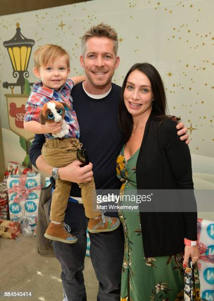 Flynn Patrick Maguire Sean Maguire and Tanya Flynn at the 7th Annual Santa's Secret Workshop benefiting LA Family Housing at Andaz on December 2 2017...
