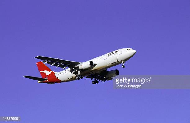 QANTAS (Queensland and Northern Territory Aerial Services) flys over the New South Wales skies