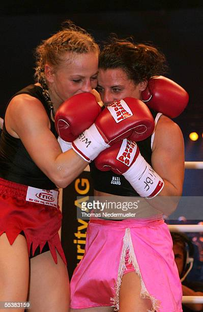 Flyweight World Championship fight between Regina Halmich of Germany and Maria Jesus Rosa of Spain on September 10 2005 in Karlsruhe Germany