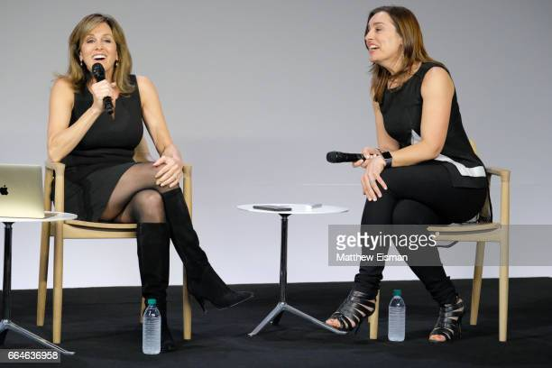 Flywheel CEO Sarah Robb O'Hagan discusses her new book Extreme You Step Up Stand Out Kick Ass Repeat with NBC News correspondent Janet Shamlian at...