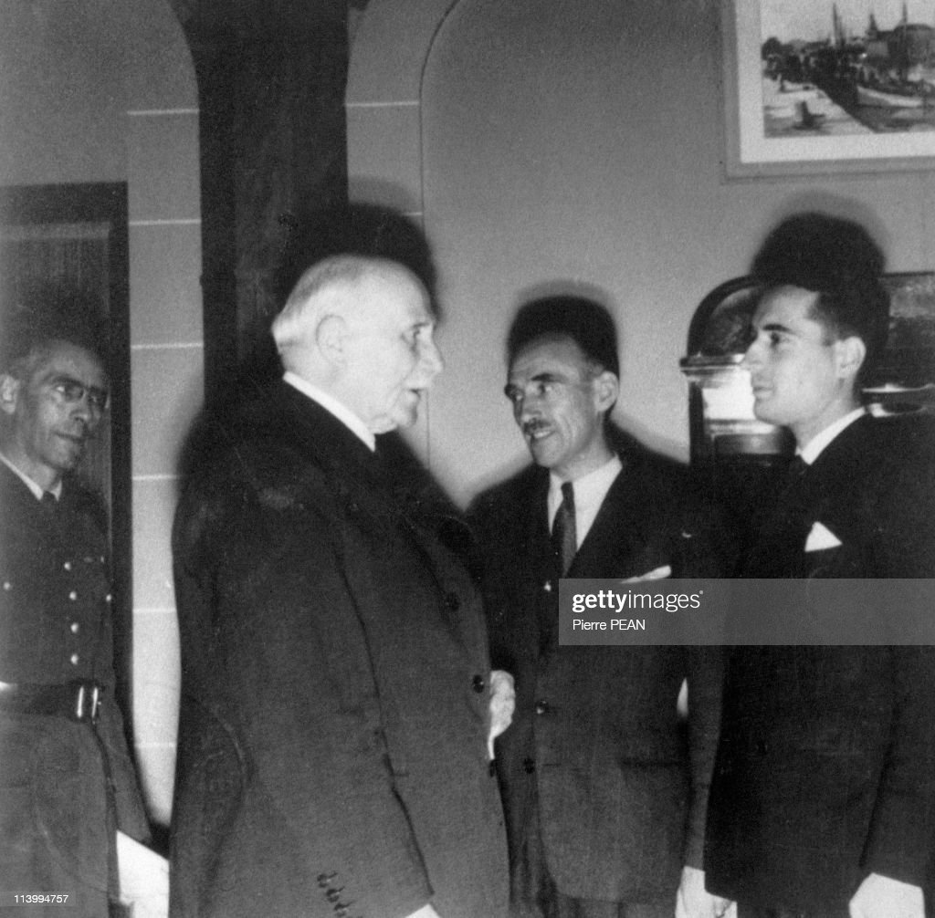 F.Mitterrand during the Second World War In France In December 1937- : News Photo