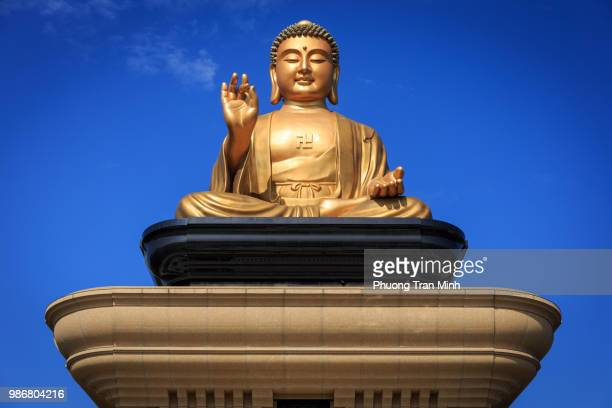 fo guang shan buddha memorial centre, kaohsiung taiwan - buddha stock pictures, royalty-free photos & images