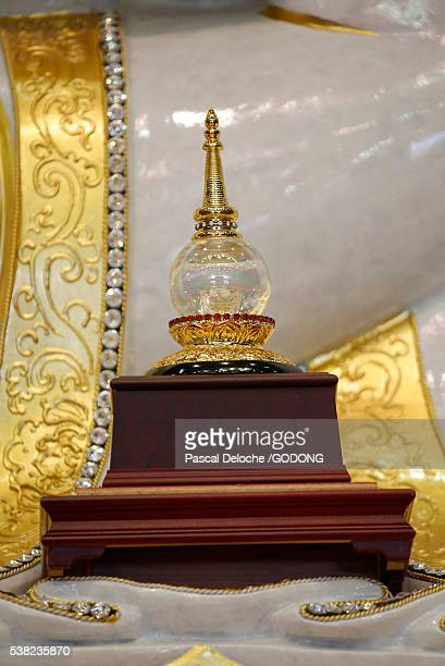 Fo Guang Shan temple the biggest buddhist temple in Europe. Buddha reliquary.