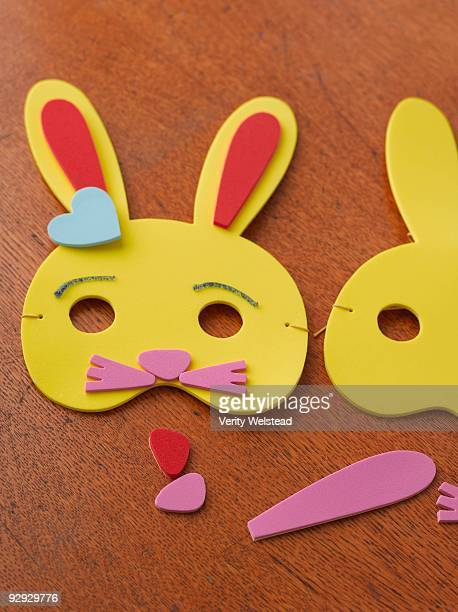 foam easter bunny mask - easter mask stock pictures, royalty-free photos & images