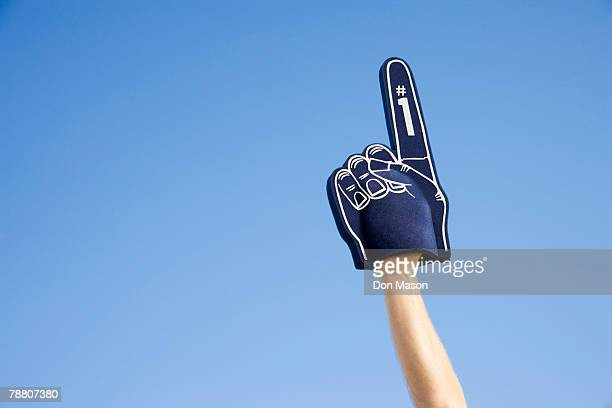foam finger - foam finger stock photos and pictures