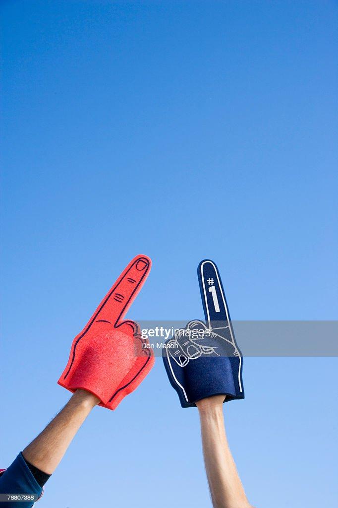 Foam Fingers : Foto de stock