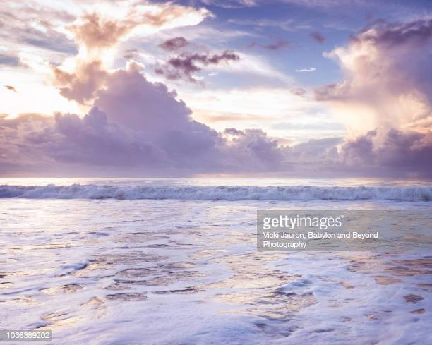 foamy water in dreamlike sunrise at myrtle beach, south carolina - file:myrtle_beach,_south_carolina.jpg stock pictures, royalty-free photos & images