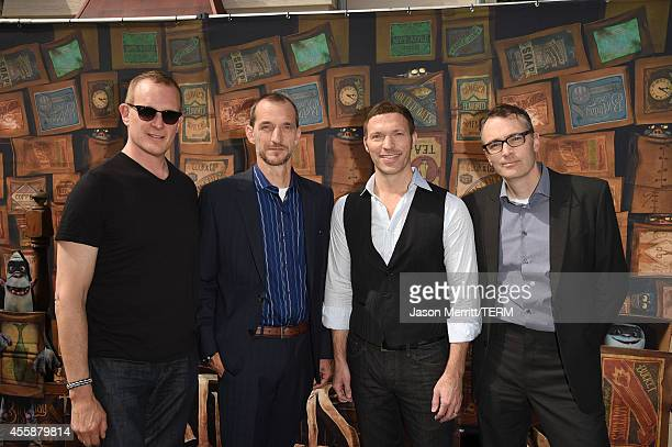 Focus Features CEO Peter Schlessel director Anthony Stacchi producer Travis Knight and director Graham Annable attend the premiere of Focus Features'...