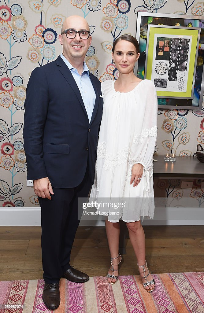Focus Features Chairman Peter Kujawski, and director and actress Natalie Portman attend the after party for the New York premiere of 'A Tale Of Love & Darkness' at Crosby Street Hotel on August 15, 2016 in New York City.