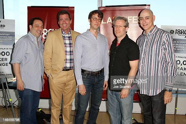 "Focus Forward Executive Ted Lambert, Film Independent co-president Josh Welsh, Focus Forward Executive Damon Smith, ""Good Bread"" Filmmaker Eddie..."