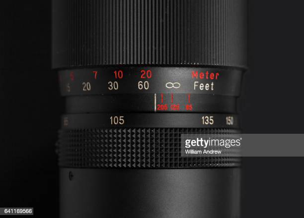 Focus ring on vintage film camera lens