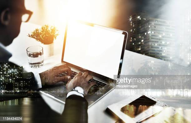focused on beating the deadline - digital enhancement stock pictures, royalty-free photos & images