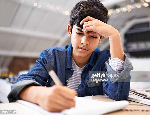 Focused on his schooling