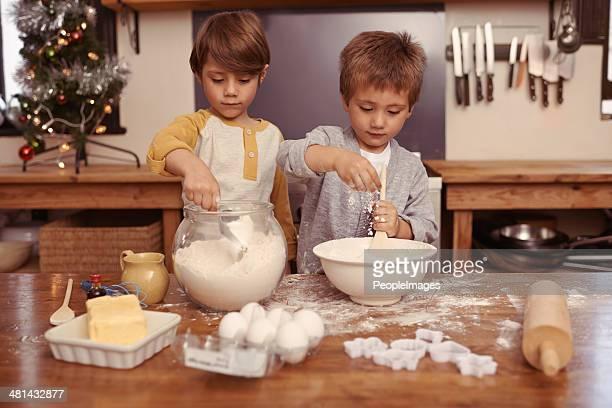 Focused on their baking