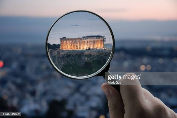 focusing on greece - image focus technique stock pictures, royalty-free photos & images