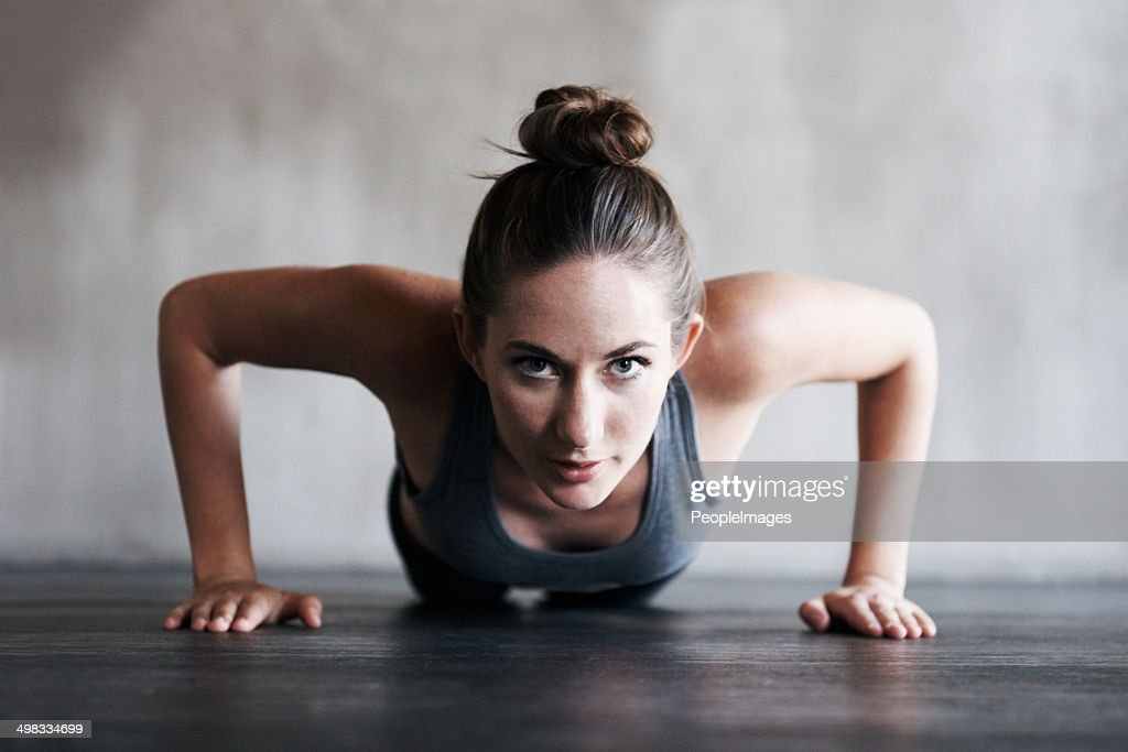 Focussed on increasing her endurance : Stock Photo
