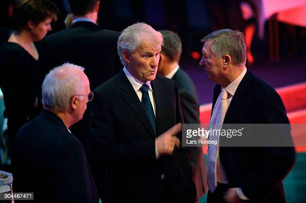 Fodbold Award National Team Coach Morten Olsen talking to Sir Alex Ferguson Manager of Manchester United © Lars Rønbøg / Frontzonesport