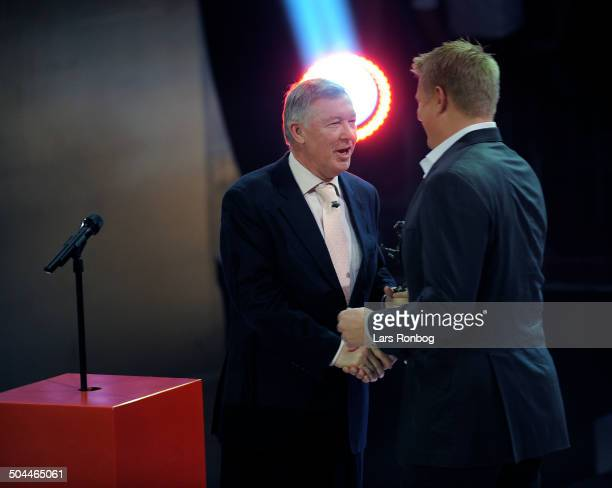 Fodbold Award New Member in Hall of Fame Goalkeeper Peter Schmeichel Manchester United Manager Sir Alex Ferguson © Lars Rønbøg / Frontzonesport