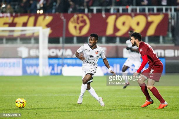 Fode Camara of Gazelec Ajaccio during the Ligue 2 match between Metz and Gazelec Ajaccio on November 26 2018 in Metz France