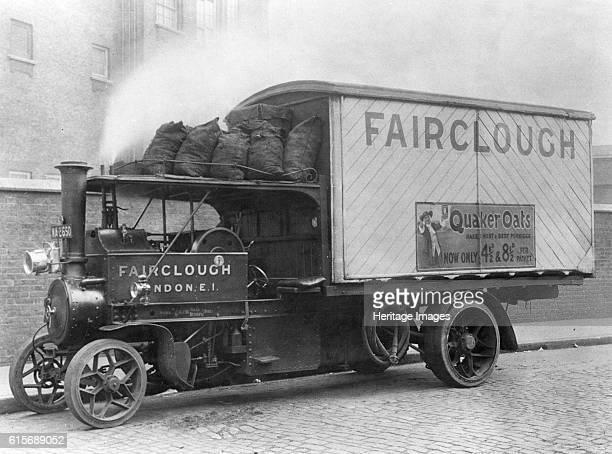 Foden steam truck 1921. Artist Unknown.