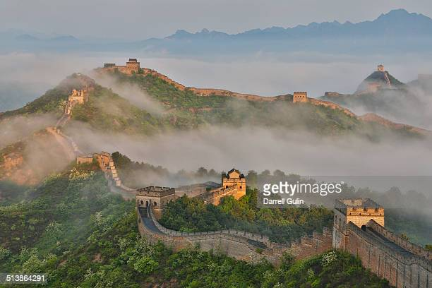Fog along Great Wall China, Jinshanling