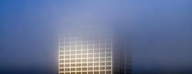 Fog and sunrise over Oakland