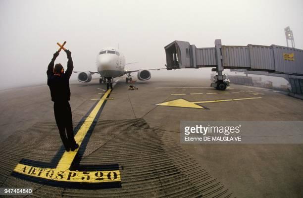 Fog At Paris Charles De Gaulle Airport Fabruary 1994