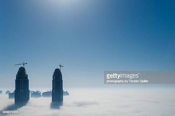 Fog at the Pearl in Qatar