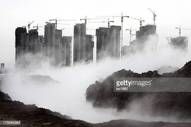 ville de brouillard