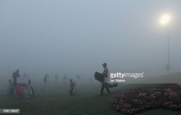 Fog delays play during the first round of the Avantha Masters at The DLF Golf and Country Club on February 17 2011 in New Delhi India