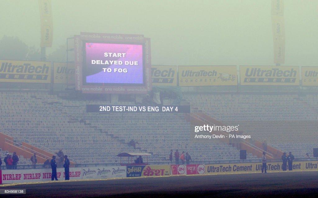 Cricket - Second Test - Day Four - India v England - Punjab Cricket Association Stadium - Mohali - India : News Photo