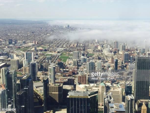 Fog in city