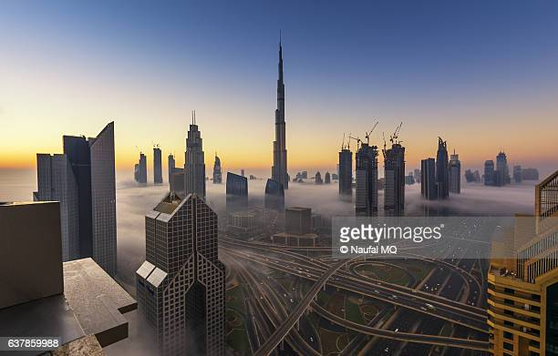 Fog in Dubai Downtown