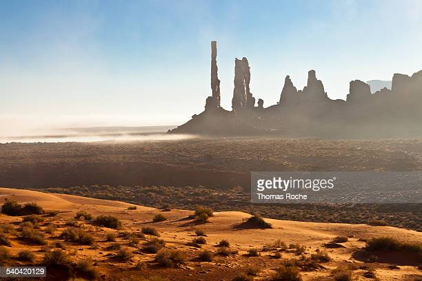 Fog in Monument Valley