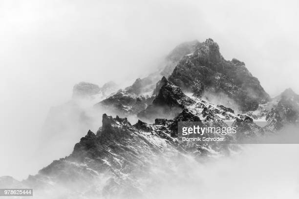 fog in mountains, patagonia, chile - images stock pictures, royalty-free photos & images